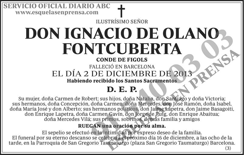Ignacio de Olano Fontcuberta